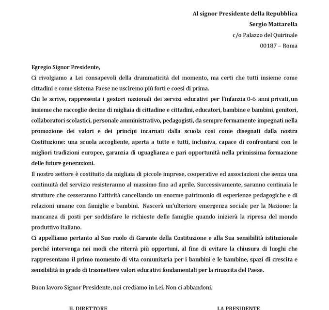 Assonidi e Confcommercio: lettera al Presidente Mattarella